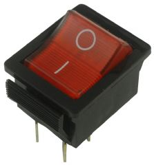 ARCOLECTRIC C1353VQ0/1RED  Rocker Switch, Dpst, Illum Red, I/O